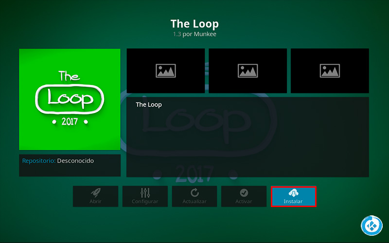 addon the loop en kodi