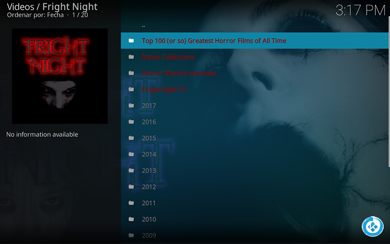addon fright night en kodi