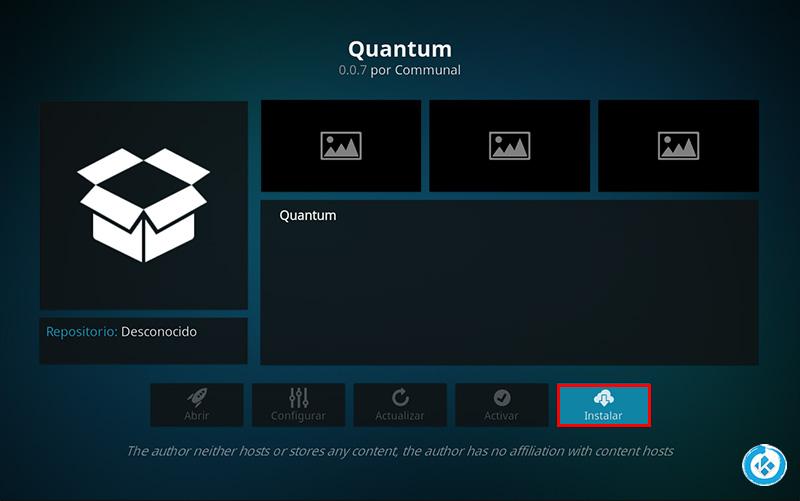 addon quantum en kodi