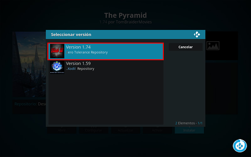 the pyramid en kodi