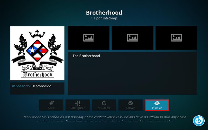 addon brotherhood en kodi