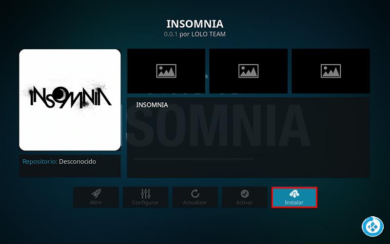 addon insomnia en kodi