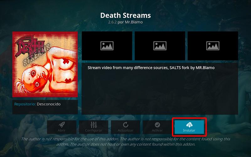 addon death streams en kodi