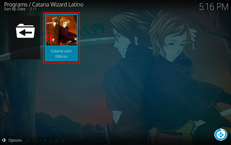 Wizard Catana Latino en Kodi