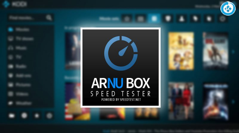 addon arnu box speed tester en kodi