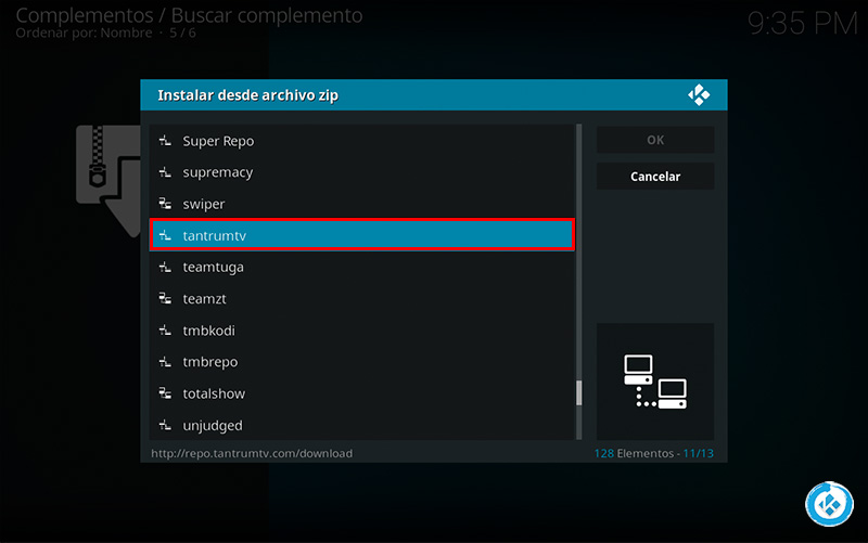 addon the knob en kodi