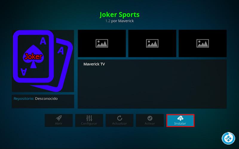 addon joker sports en kodi