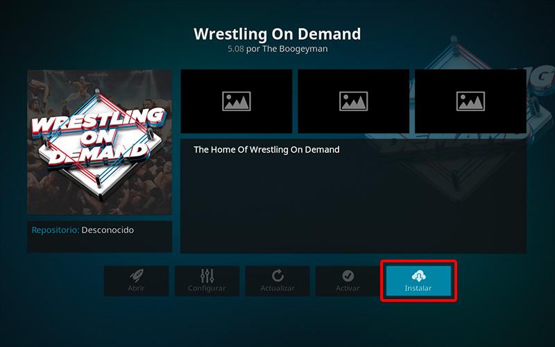 addon wrestling on demand en kodi