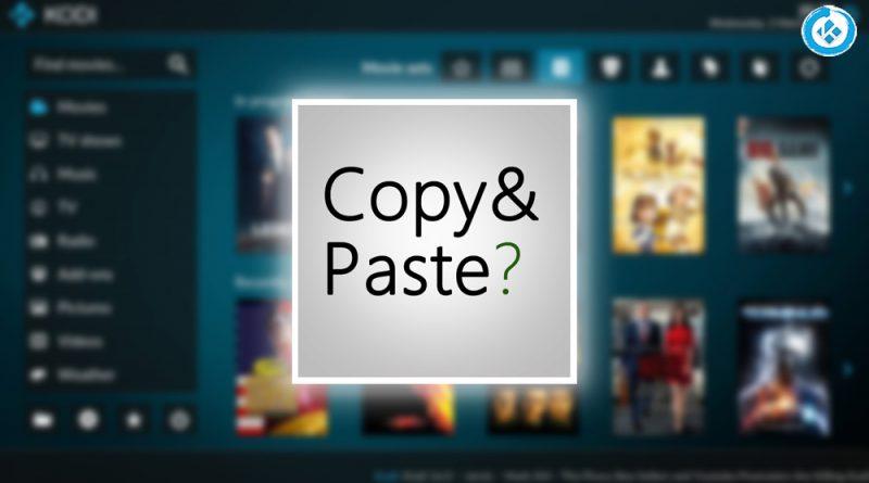 addon copy and paste en Kodi