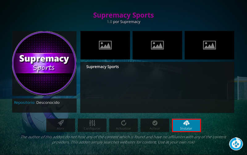 addon supremacy sports en kodi