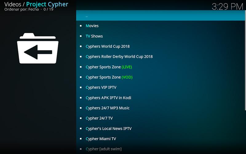 addon project cypher en kodi