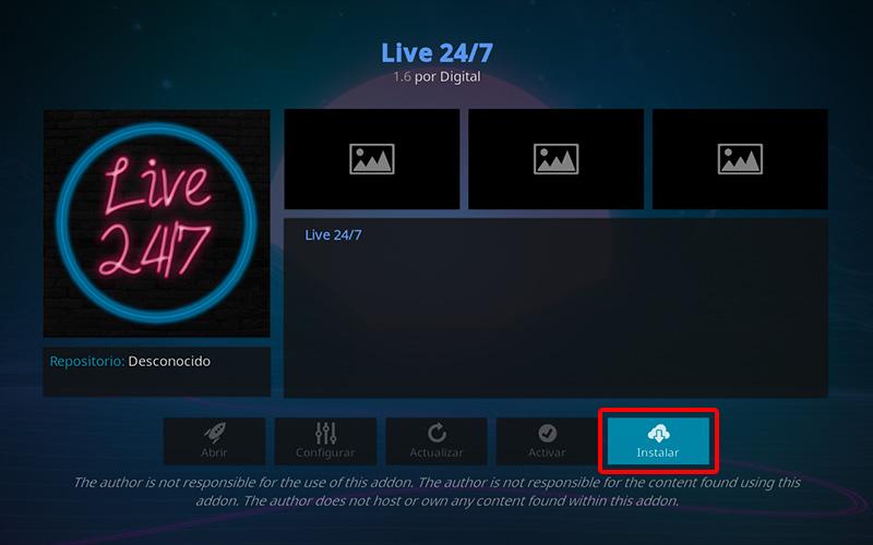 addon live 24/7 en kodi