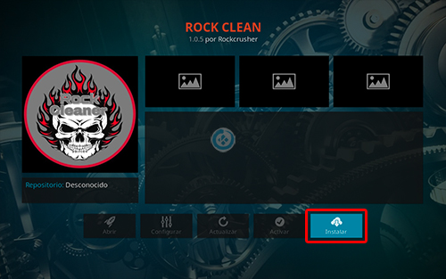 addon rock clean en kodi