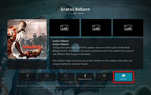 addon kratos reborn en kodi
