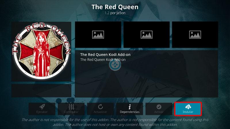 the red queen en kodi