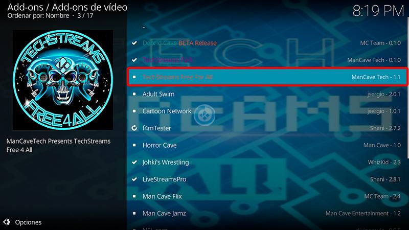 techstreams free for all en kodi