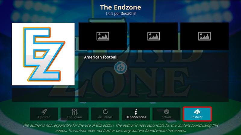 addon the end zone en kodi
