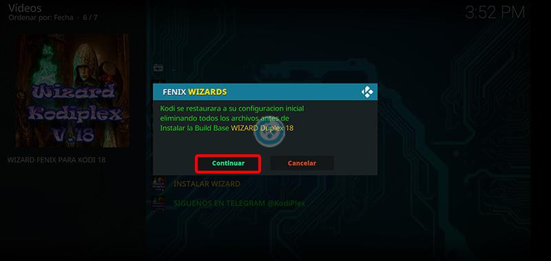 wizard fenix en kodi