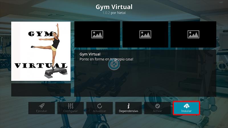 addon gym virtual en kodi