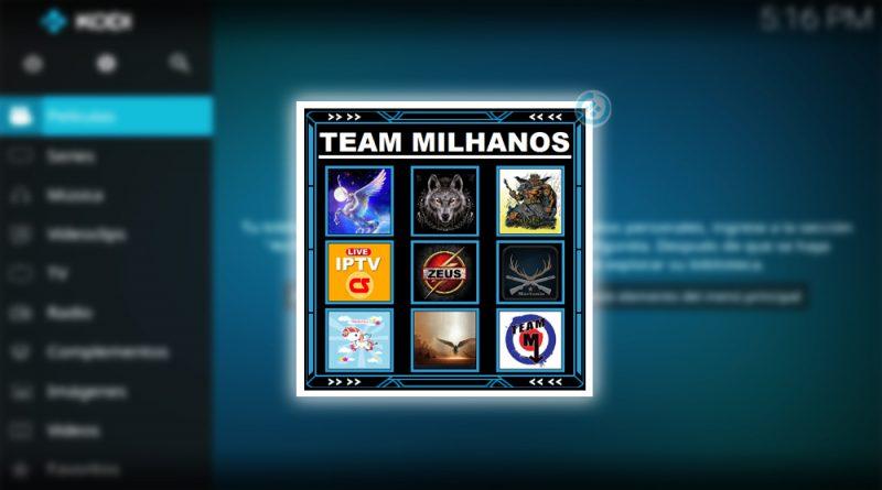 addon team milhanos en Kodi