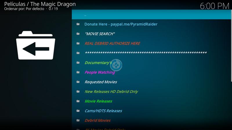 the magic dragon en kodi