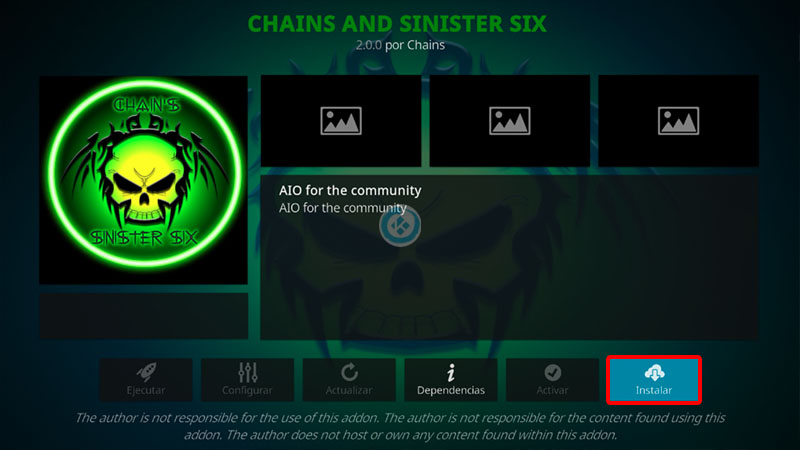 chains and sinister en kodi