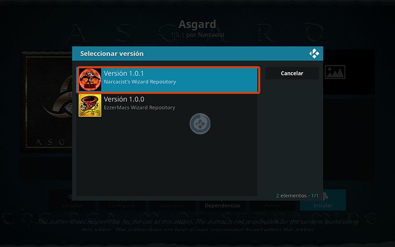 addon asgard en kodi