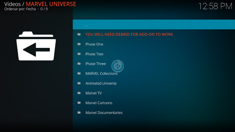 addon marvel universe en kodi