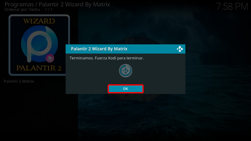 Wizard Palantir 2 en Kodi 19