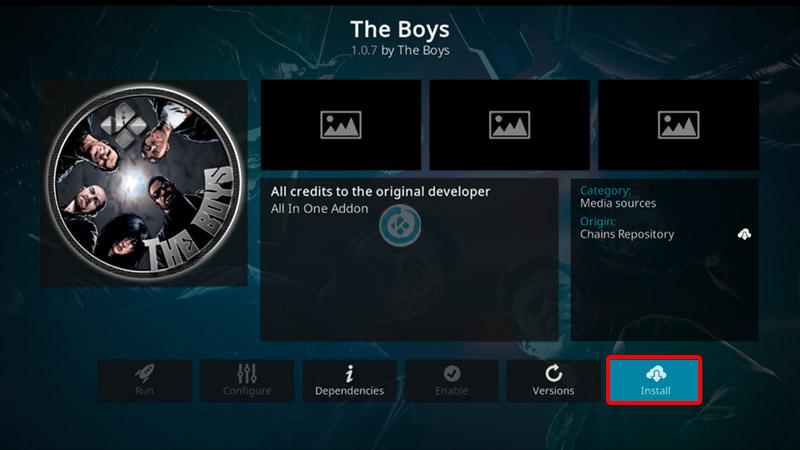 addon the boys en kodi
