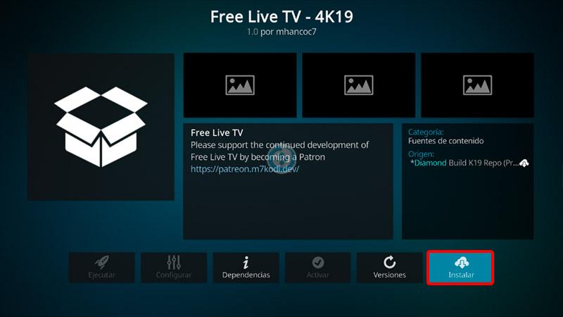 free live tv en kodi